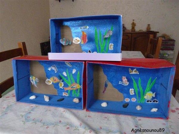 Idee Decoration En Papier Pour Faire Un Aquarium